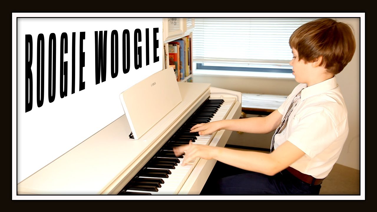 Boogie Woogie, public piano remembrance. Performance by Olivier (10 years old).