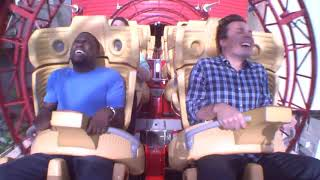 Jimmy and Kevin Hart Ride a Roller Coaster6