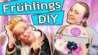 Frühlings Deko Challenge | Frühlings Kranz DIY mit Blumen