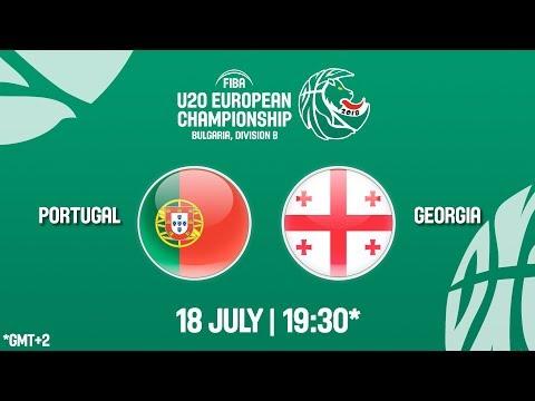 LIVE 🔴 - Portugal v Georgia - FIBA U20 European Championship Division B 2018
