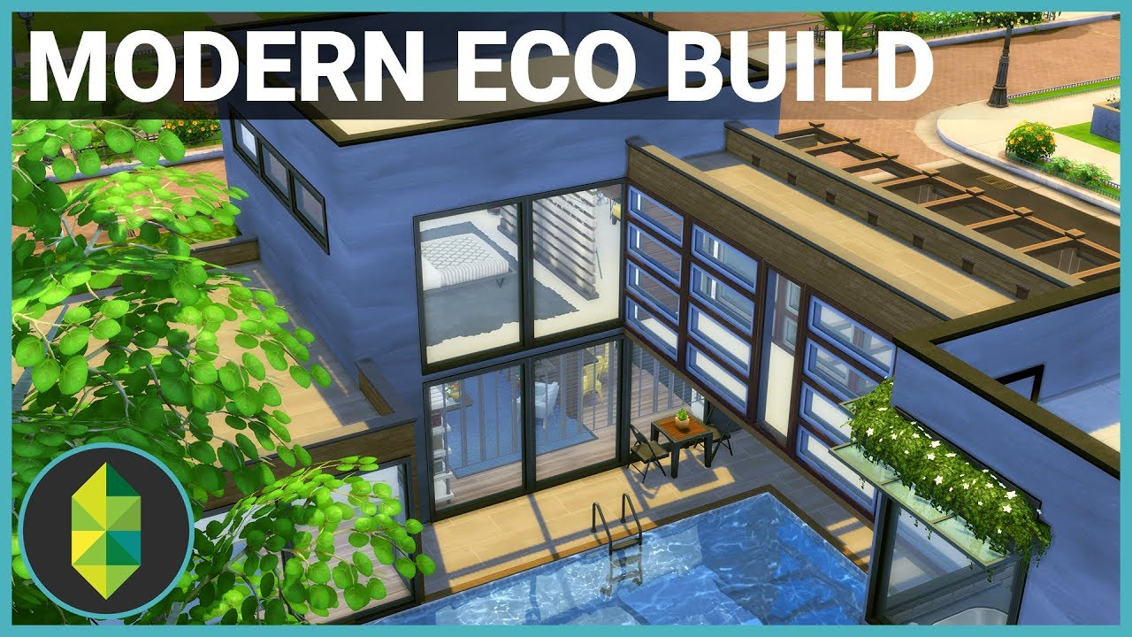 MODERN ECO HOME | The Sims 4 House Building - YouTube on post modern industrial design, folk house design, post modern apartment, post modern modern, post modern residential design, post beach house, post modern dining room, shotgun house design, post modern landscaping, post modern exteriors, post modern cabinet, post modern doors, post modern fabric, split ranch house design, territorial house design, post modern garden, post modern interior design, post modern furniture, octogon house design, post modern marketing,