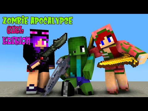 Monster School Special : IF MONSTER SCHOOL BECAME GIRL ZOMBIE APOCALYPSE -Minecraft Animation
