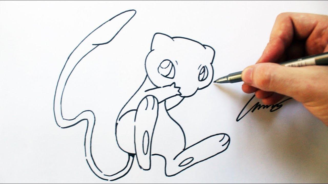 Como Desenhar Um Mew Pokemon How To Draw Mew Pokemon 151