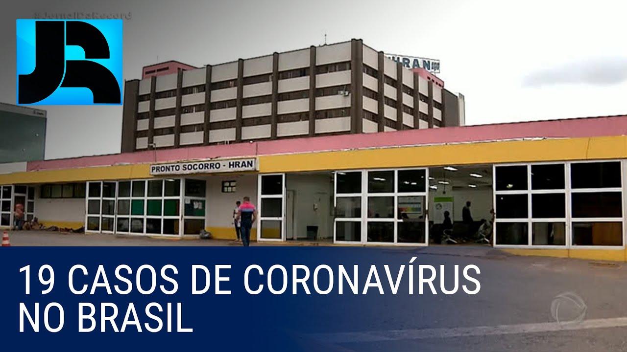 Brasil tem 19 casos confirmados de coronavírus