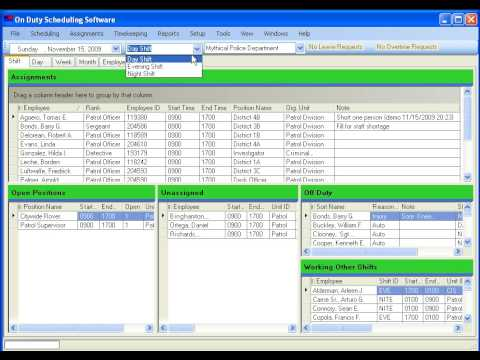 The New On Duty Police Scheduling Software Youtube