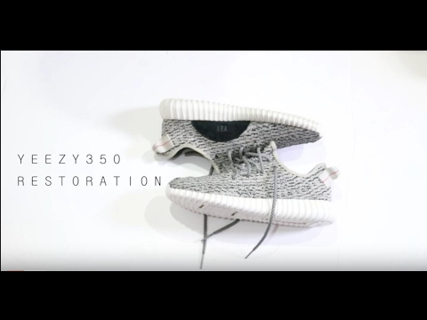 ULTIMATE YEEZY 350 BOOST TURTLE DOVE RESTORATION(using crep cure and sneaker ER pen)