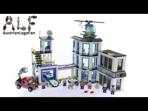 Lego City 60141 Police Station Lego Speed Build Review видео онлайн