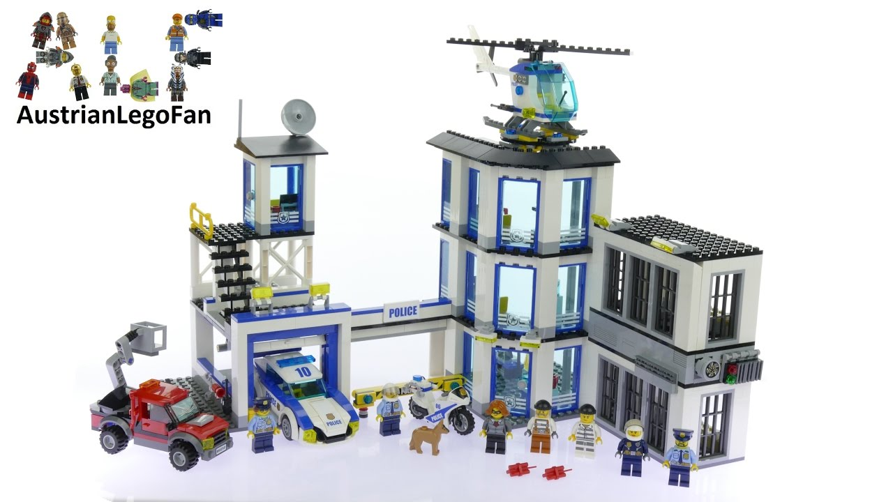 Lego City 60141 Police Station - Lego Speed Build Review ...