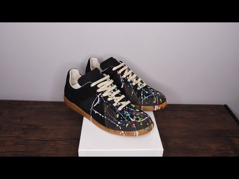 808a90008f9e Maison Martin Margiela Future High Review and ON FOOT OG LUWAP. Maison  Margiela Replica Paint Splatter Sneaker Review