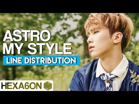 ASTRO - My Style Line Distribution (Color Coded)