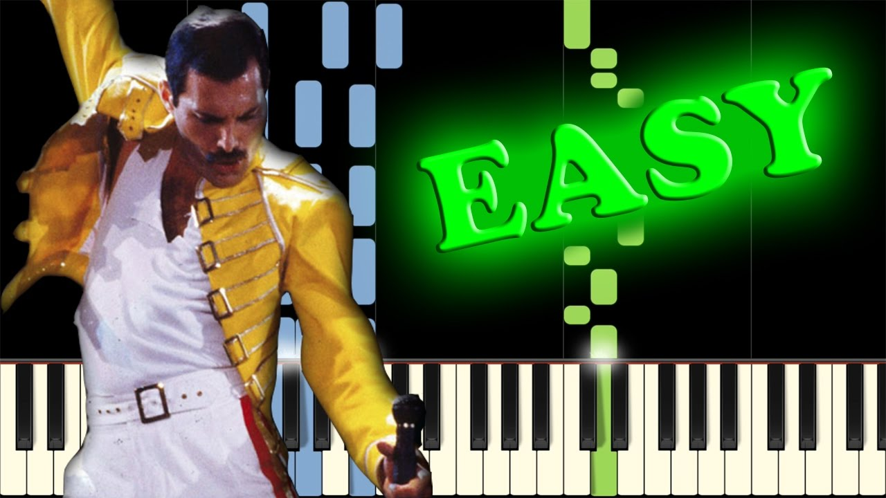 Queen The Show Must Go On Easy Piano Tutorial Youtube