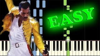 QUEEN - THE SHOW MUST GO ON - Easy Piano Tutorial