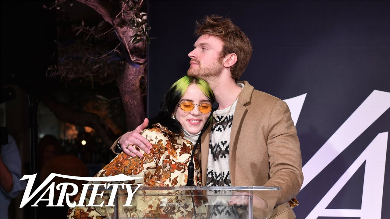 Billie Eilish Thanks Finneas in Heartfelt Speech - Variety Hitmakers