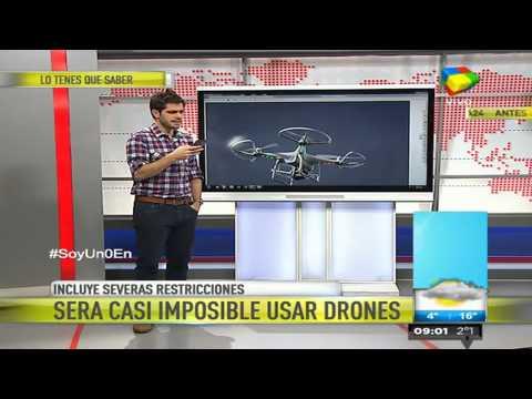 Establecen severas restricciones para el uso de drones