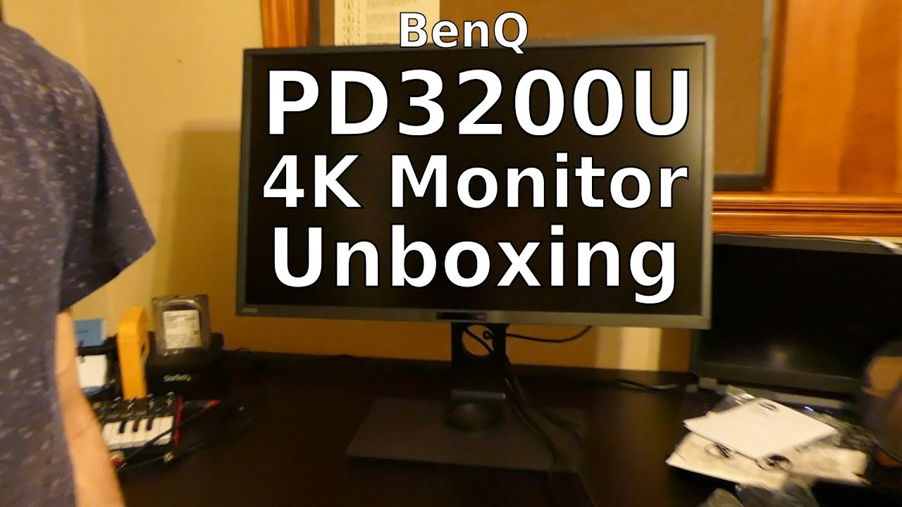 BenQ PD3200U 4K Monitor Unboxing