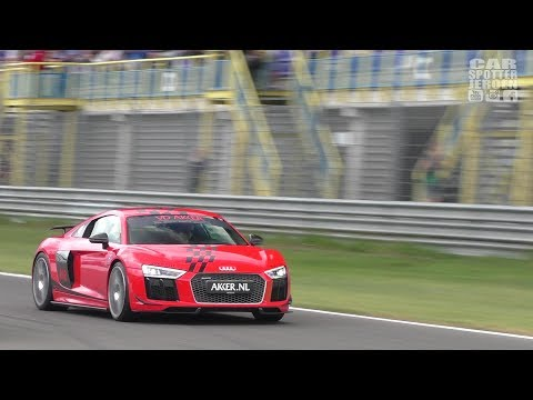 Audi R8 V10 Plus Supercharged (802 HP) by MTM driving on the circuit!