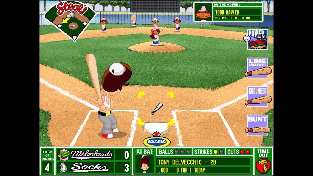 backyard baseball league pc tournament game 14 let the