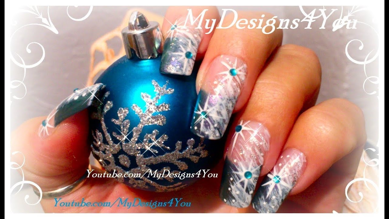 Winter Nail Art For Beginners Snow And Snowflake Nails