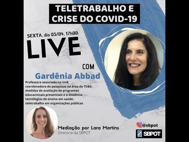 Gardênia Abbad participa de live promovida pela SBPOT