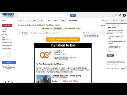Invitation to Bid in ONETEAM