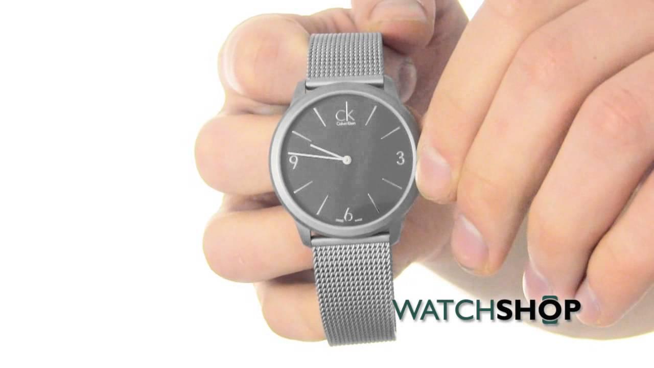 16ecf8e41 Calvin Klein Men's Minimal Watch (K3M51154) - YouTube