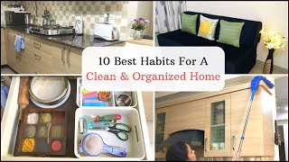 How To Keep Your Home Clean And Organized | 10 Habits For A Clean And Dust Free Home | Her Fab Way