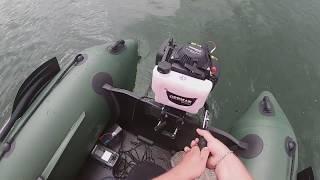 Test člunu,motoru a echolotu. + pokus o lov kapra.