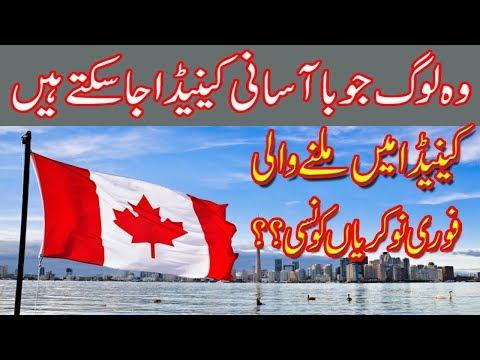 Most Demanding Jobs in Canada | 2018 | Visa Guide | Urdu Hindi | MJH Studio |