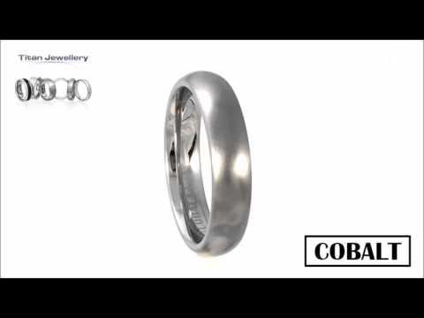 Men's 5mm Brushed Court Cobalt Wedding Ring