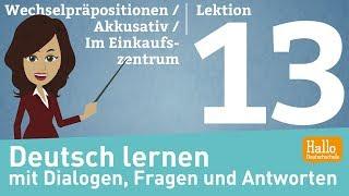 Free online German course A1. Lektion 13 Aussprache