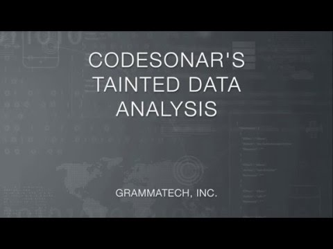 CodeSonar's Visual Tainted Data Analysis