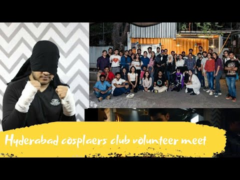 Hyderabad cosplayer club volunteer thanking meet |post con meetup|