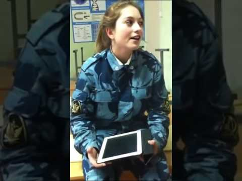 Cute Russian army girl sings 'When we were at war' 10 hours
