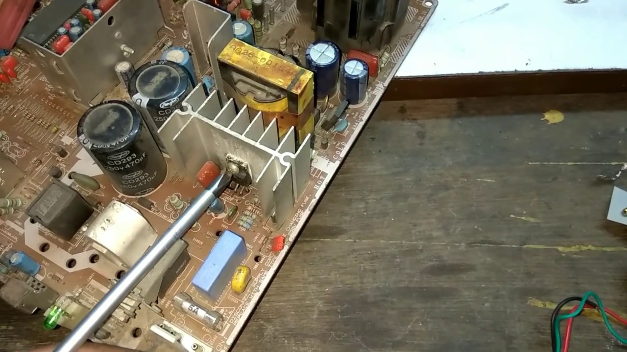 how to install oscillation circuit in crt tv power supply step by step description [ 1280 x 720 Pixel ]