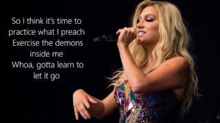 Kesha - Learn to Let Go | Lyrics on Screen