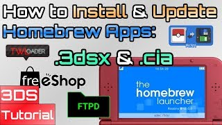 How to Install & Update -  cia or  3dsx Homebrew Apps Manually - Whats the  Difference Between Them?