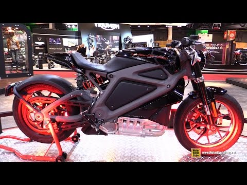 Harley Davidson Livewire Electric Bike - Walkaround - 2015 Salon de la Moto Paris