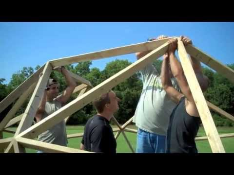 BUILDING A 2V WOODEN GEODESIC DOME