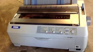 How to print a self test on an Epson FX-890 dot matrix printer
