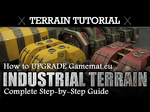 Warhammer 40K Terrain Painting Tutorial: How to UPGRADE Gamemat.eu Industrial Terrain Set
