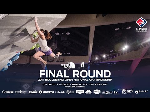 Final Round  2017 Bouldering Open National Championship