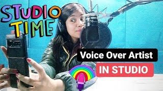 Voice Over Artist In Studio II Akanksha Sharma II Fun Video