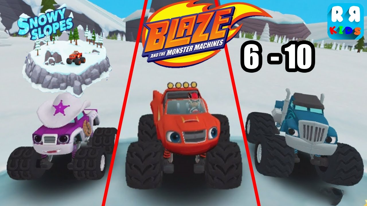Blaze And The Monster Machines Snowy Slopes Track 6 10