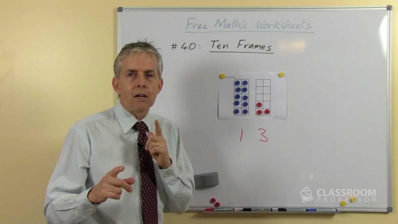 Workbooks ten frame worksheets printables : Teacher Math Lesson: Ten Frames Introduction - YouTube