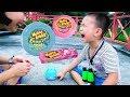 Trò chơi Ăn Kẹo Hubba Bubba với Hà Mã Đồ Chơi ❤ BonBon TV ❤