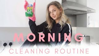 MORNING CLEANING ROUTINE | MUM/MOM OF TWO | Lucy Jessica Carter