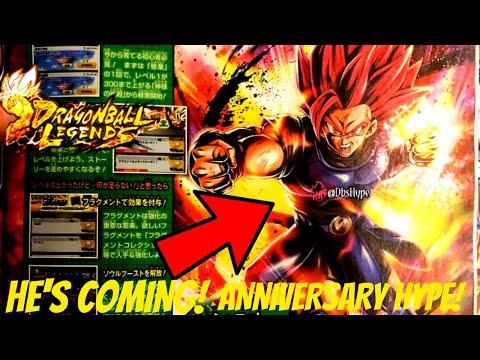 HYPE!- Dragon Ball Legends 2 Year Anniversary- V-JUMP SCANS- SUPER SAYIAN GOD SHALLOT 🔥