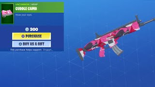 *NEW* FORTNITE CUDDLE CAMO SHOWCASE AND GIFTING!!!!