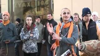 2011-10-22 Harinama in Moscow, Arbat St., Харинама на Арбате