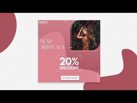 Fashion Sale Instagram Stories or Social Media Post Design in Photoshop | Designhob